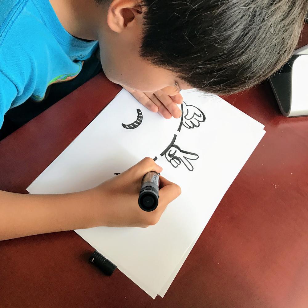 kaz's son drawing