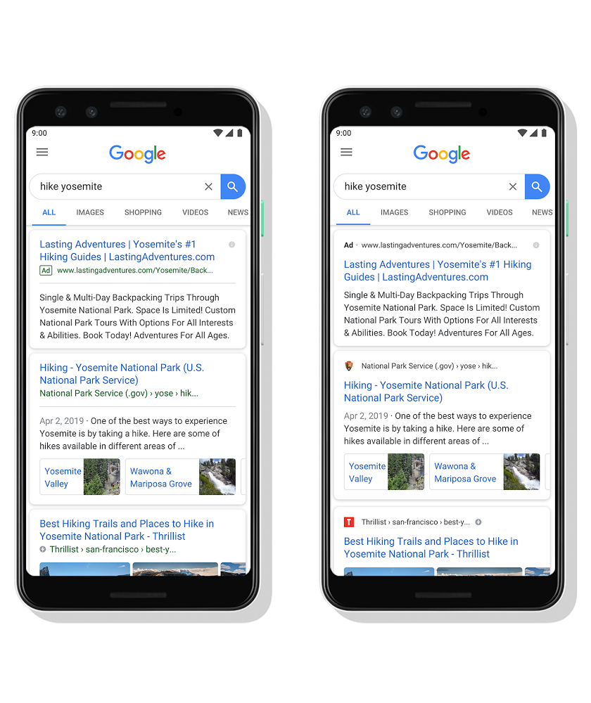 A New Design For Google Search On Mobile
