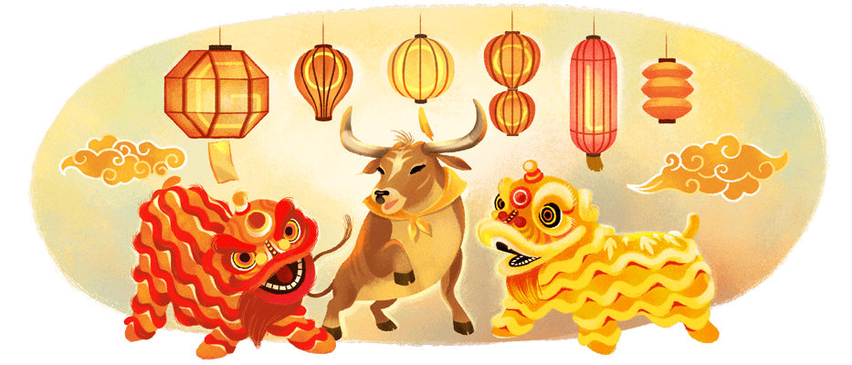 Google Doodle for Lunar New Year 2021