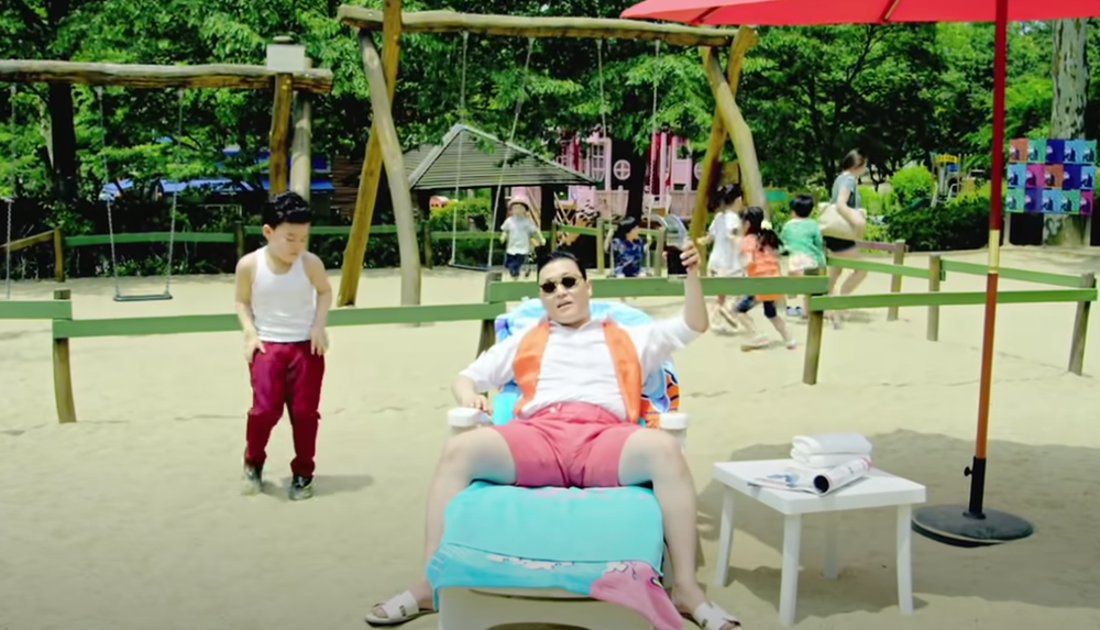 """The music video of Psy's hit song """"Gangnam Style"""", hosted on YouTube."""