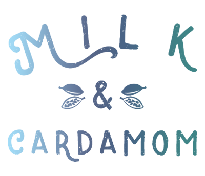 Milk and Cardamom's website logo