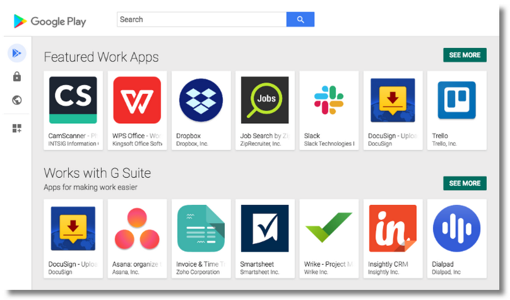 Google Play work apps