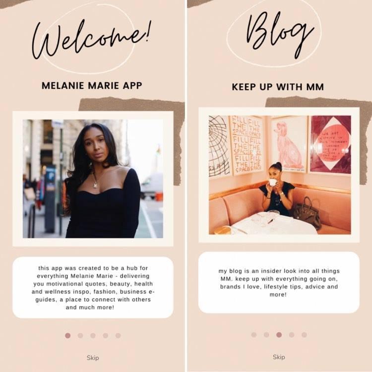 Melanie Marie's app