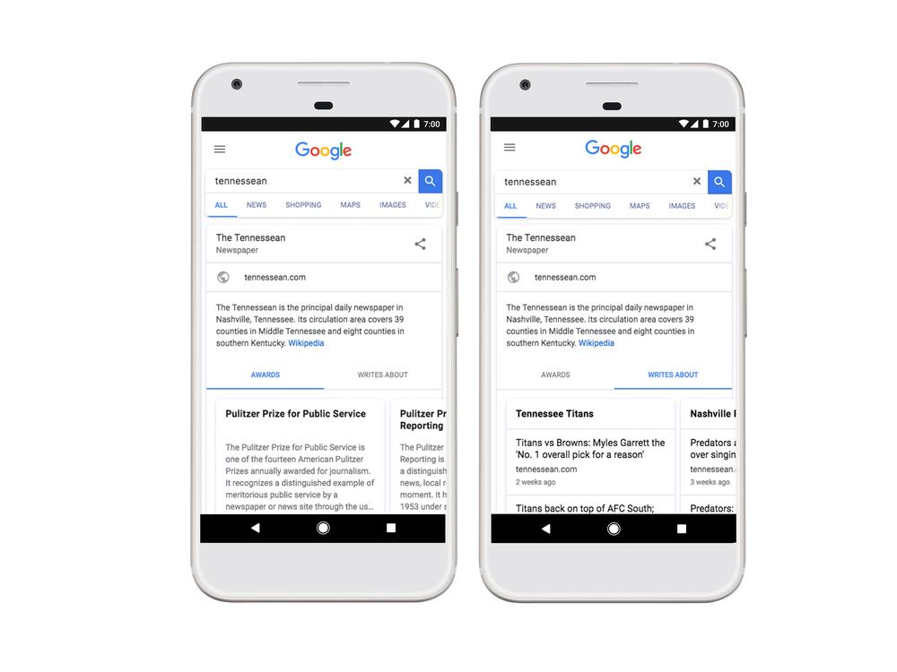 Google va afficher un Knowledge Graph pour les médias de masse