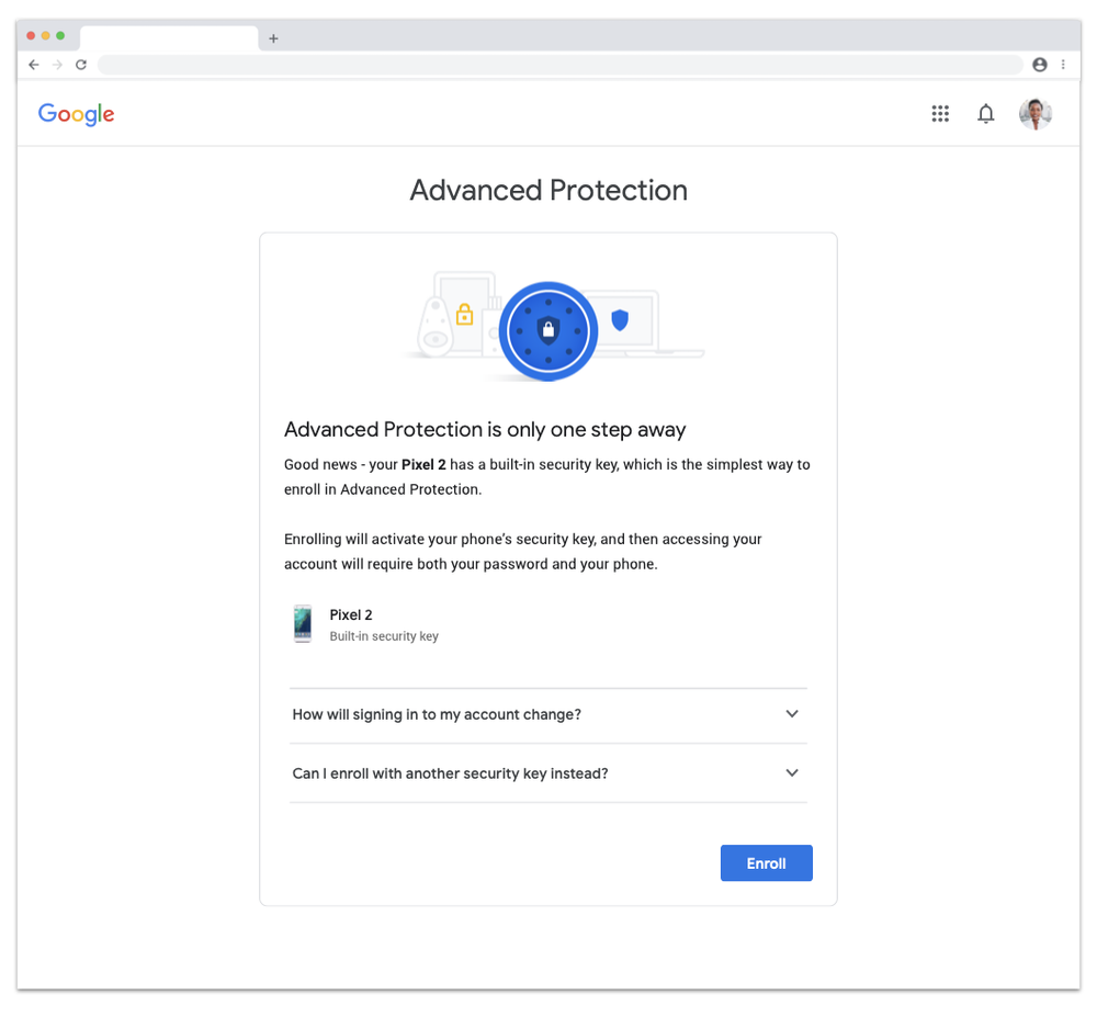 Advanced Protection enrollment for Android users
