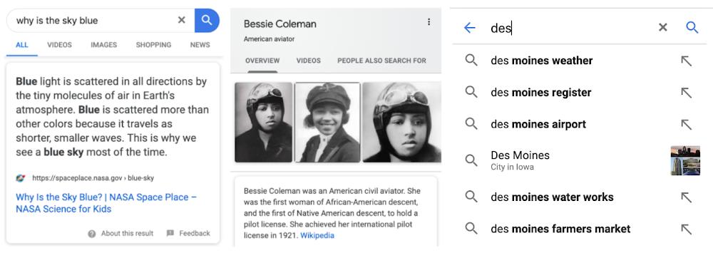 Funciones de búsqueda de Google