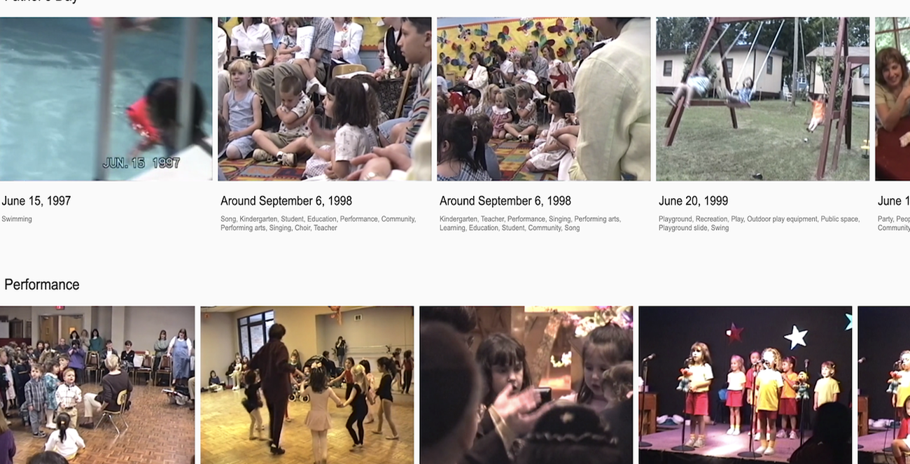 30 years of family videos in an AI archive