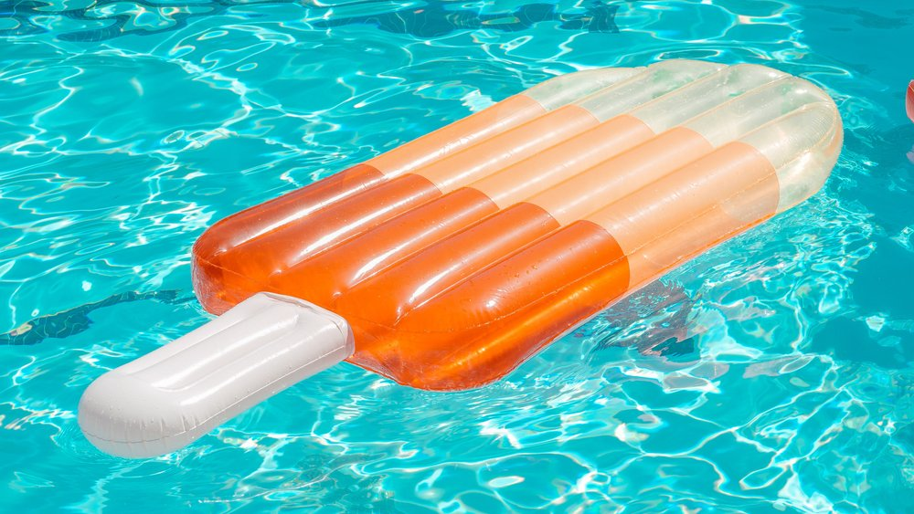 Image showing a popsicle floatie floating in a pool.