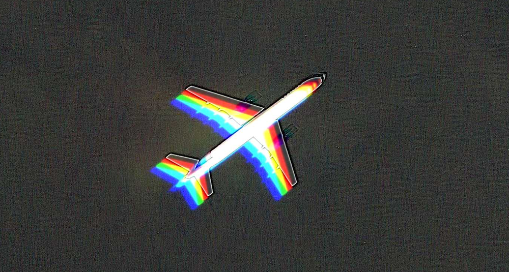 "A ""rainbow"" plane illusion"
