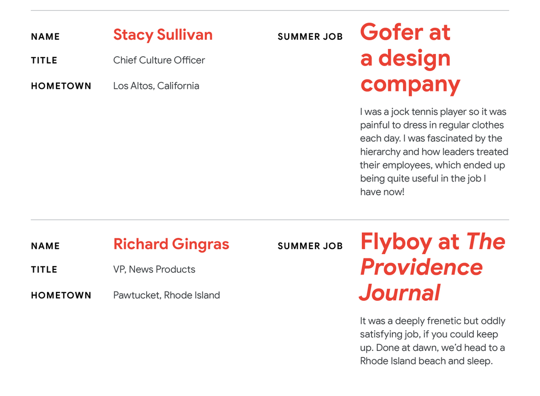 Throwing it back: Google leaders share their first summer jobs