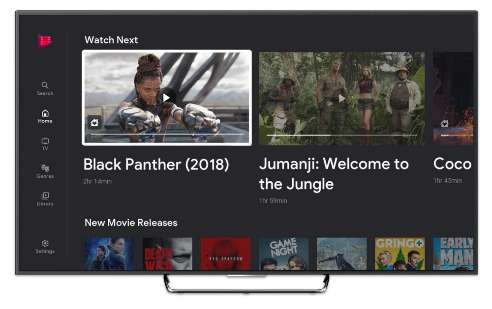 Google Play Movies and TV on Roku - hero