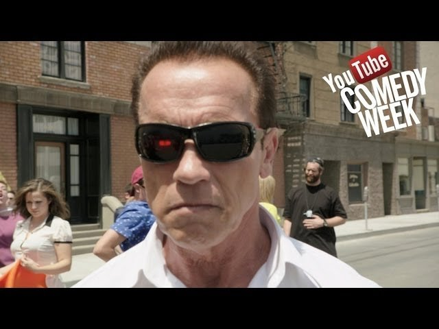 Arnold pumps you up for YouTube Comedy Week - Join in May 19-25