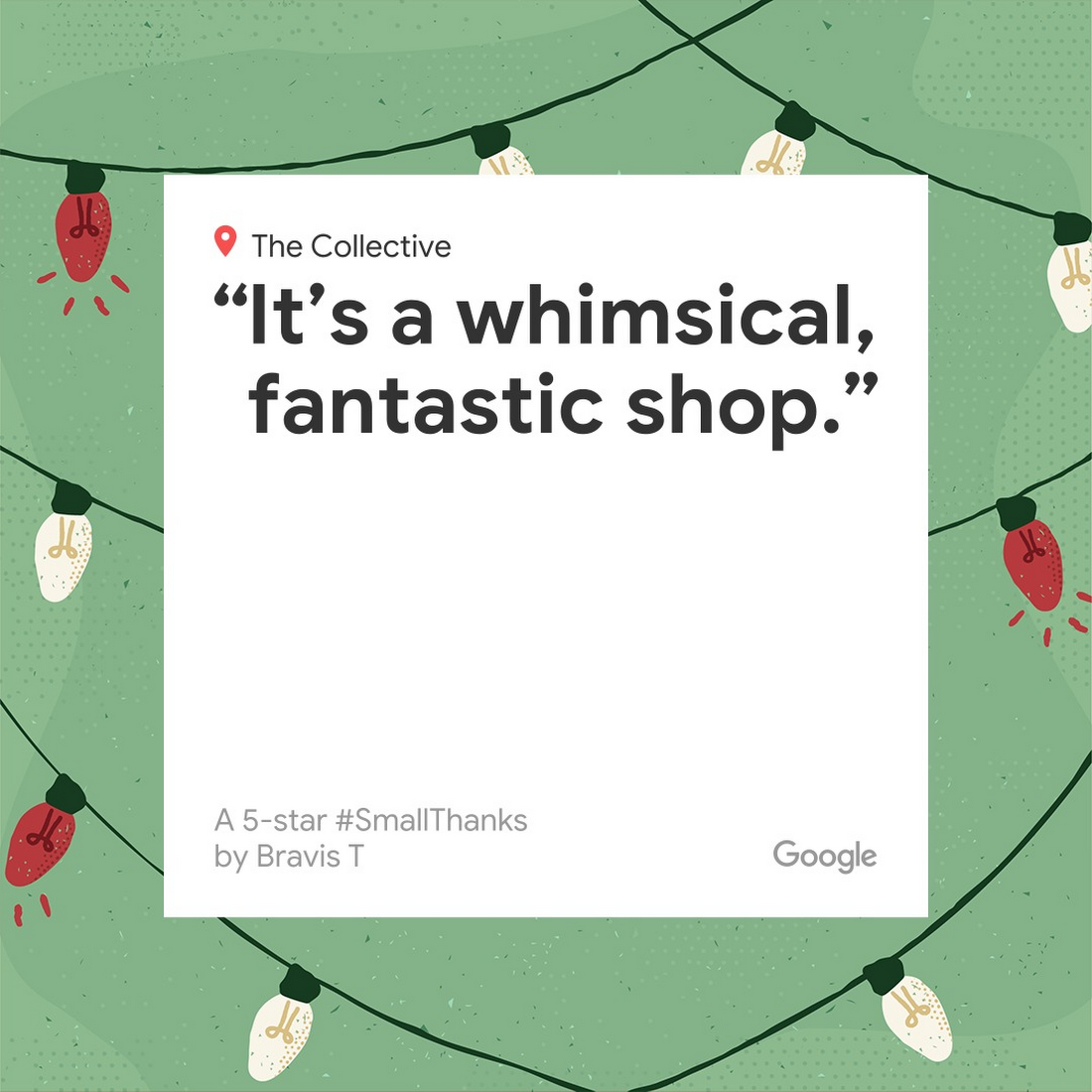 Help your business stand out this holiday season with visuals from Small Thanks