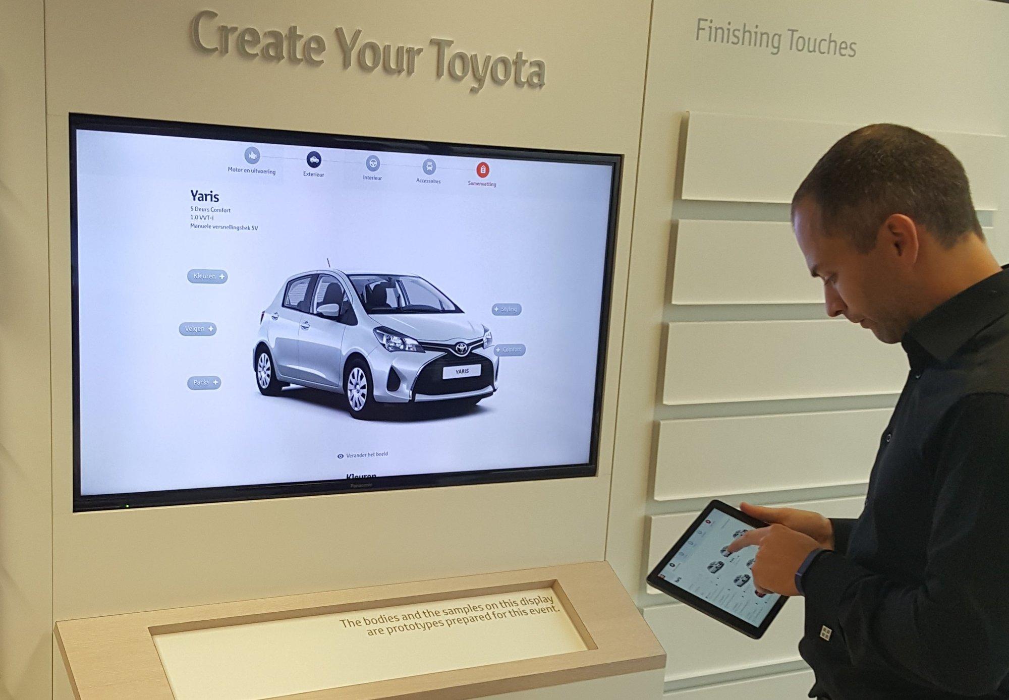 Toyota retail configurator on Chrome