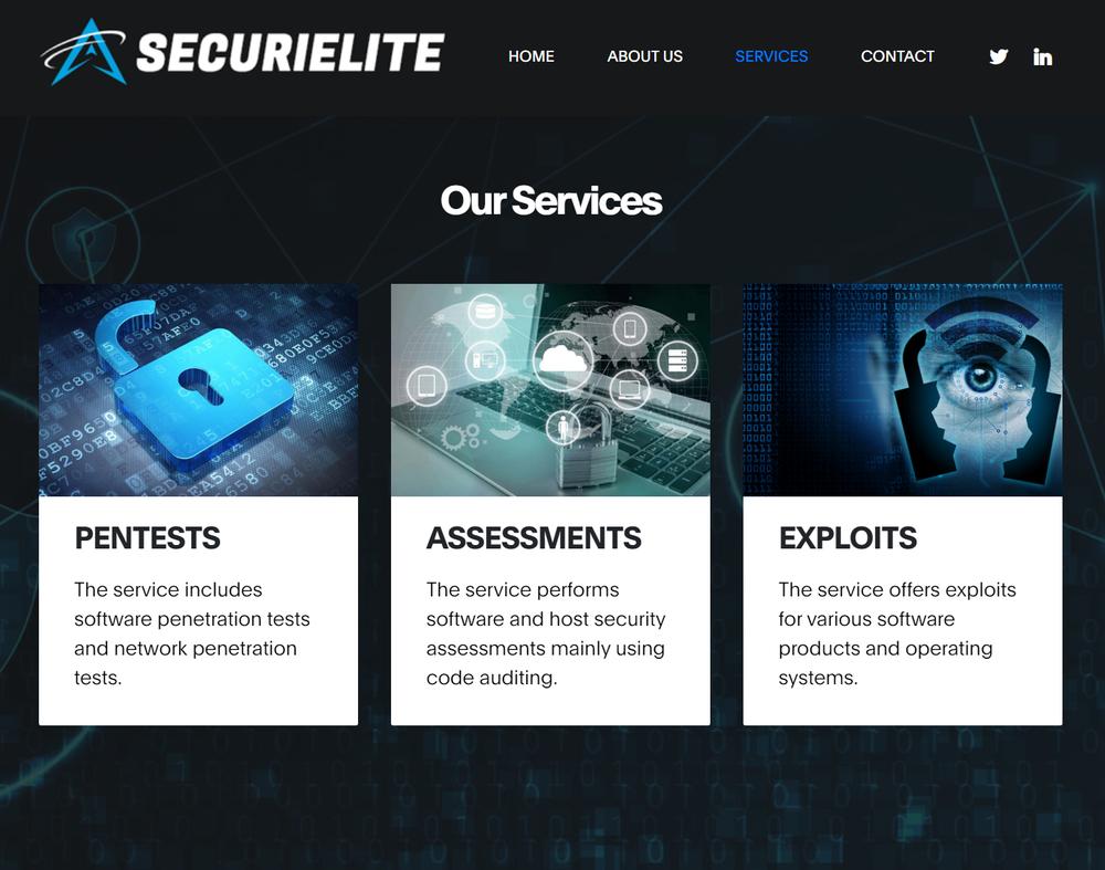 Securelite website image