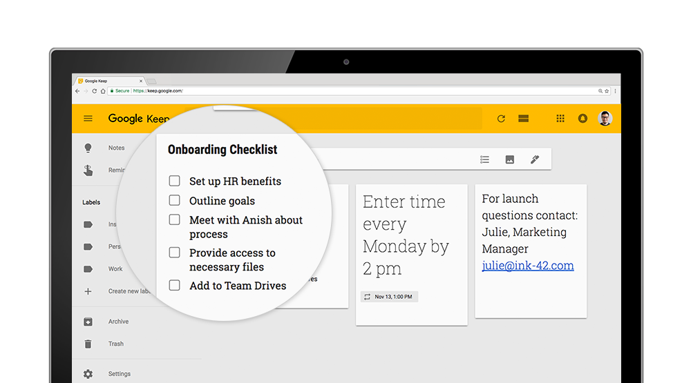 Google Keep work hacks