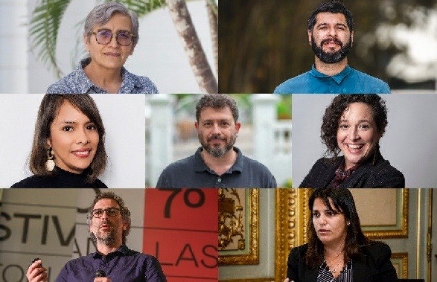 Images of seven mentors for a local and digital natives program in Latin America