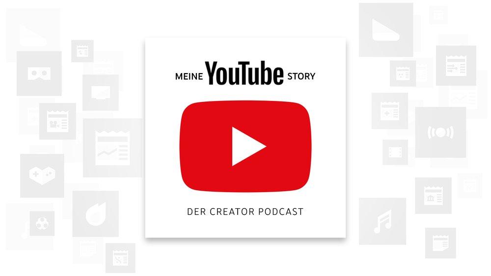 """Logo der deutschen YouTube Podcast-Serie """"Meine YouTube Story"""""""