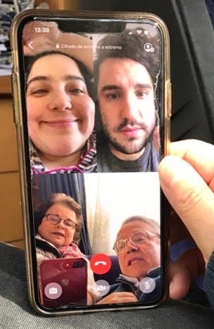 We definitely have better family portraits, but I find it cute that my mom takes a photo every time we are all on a call <3