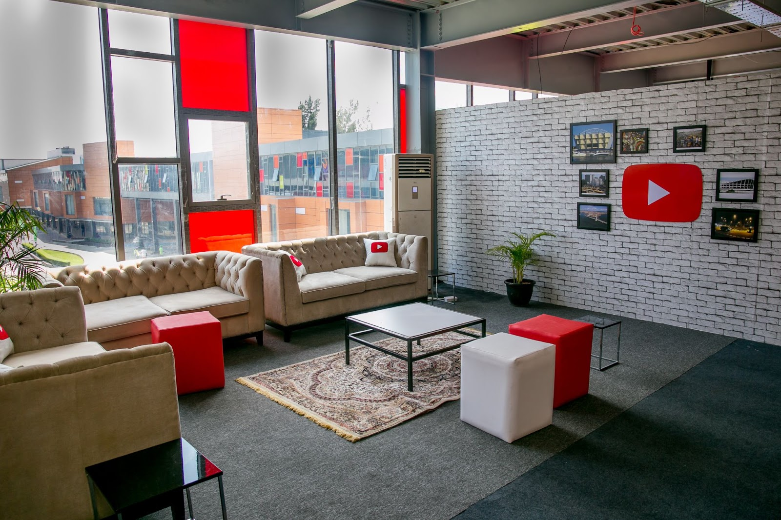 When we held in-person events, YouTube had creator event spaces like this one