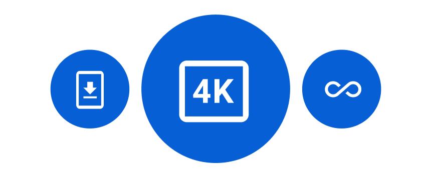 4k Plus logo