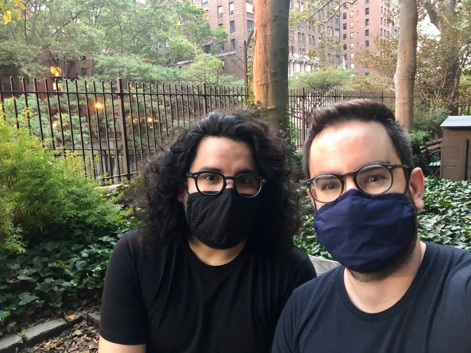 Is it a coincidence that our masks match our shirts? Maybe.