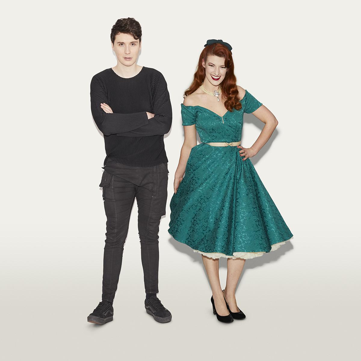 Daniel Howell and Jessica Kellgren-Fozard of Jessica Out of the Closet (credit: Henry J Kamara)