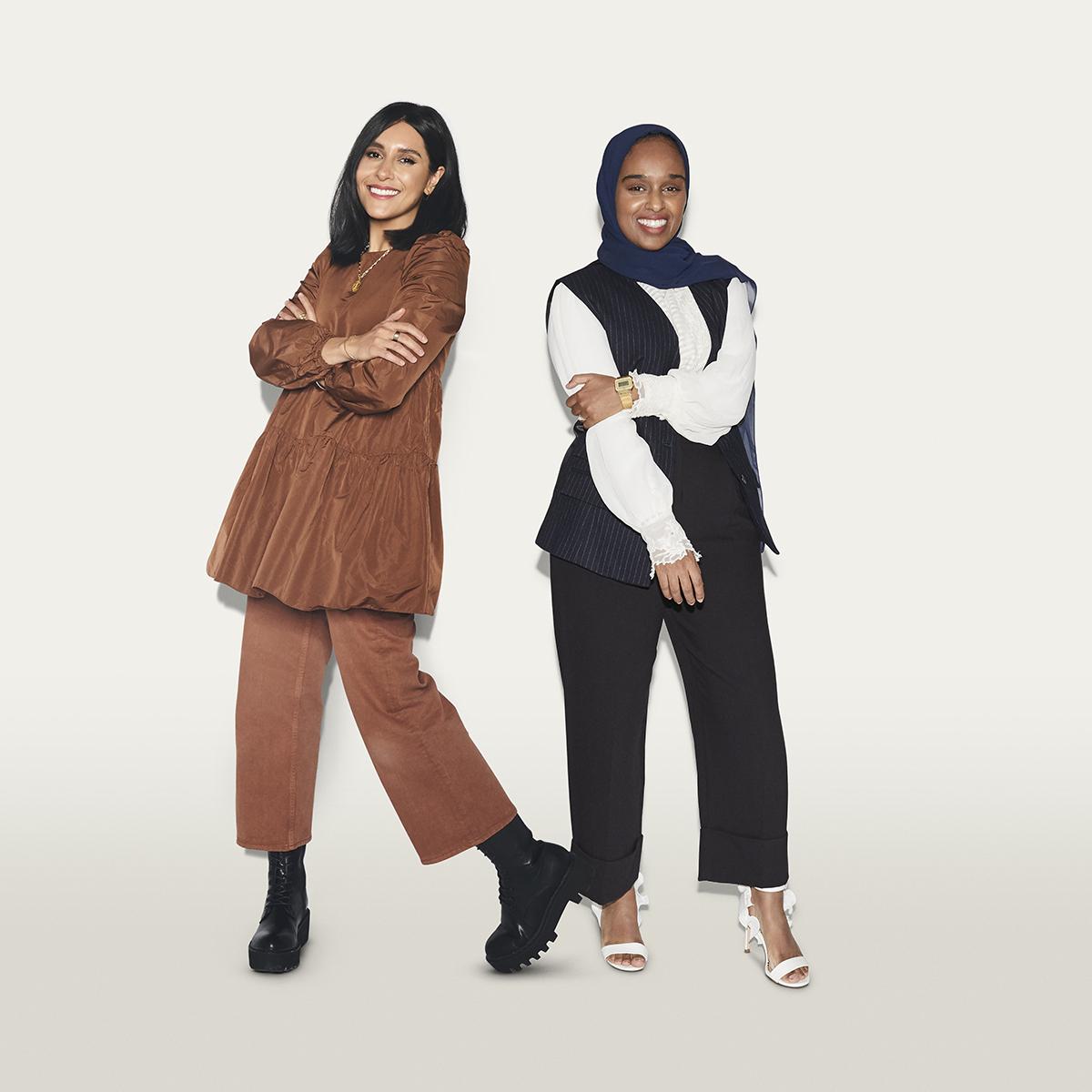 Dina Tokio and Dr Amina Yonis (credit: Henry J Kamara)