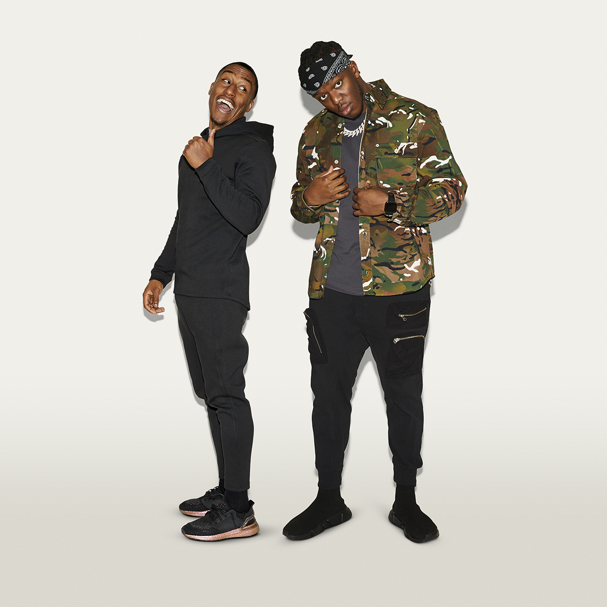 KSI and Yung Filly (credit: Henry J Kamara)