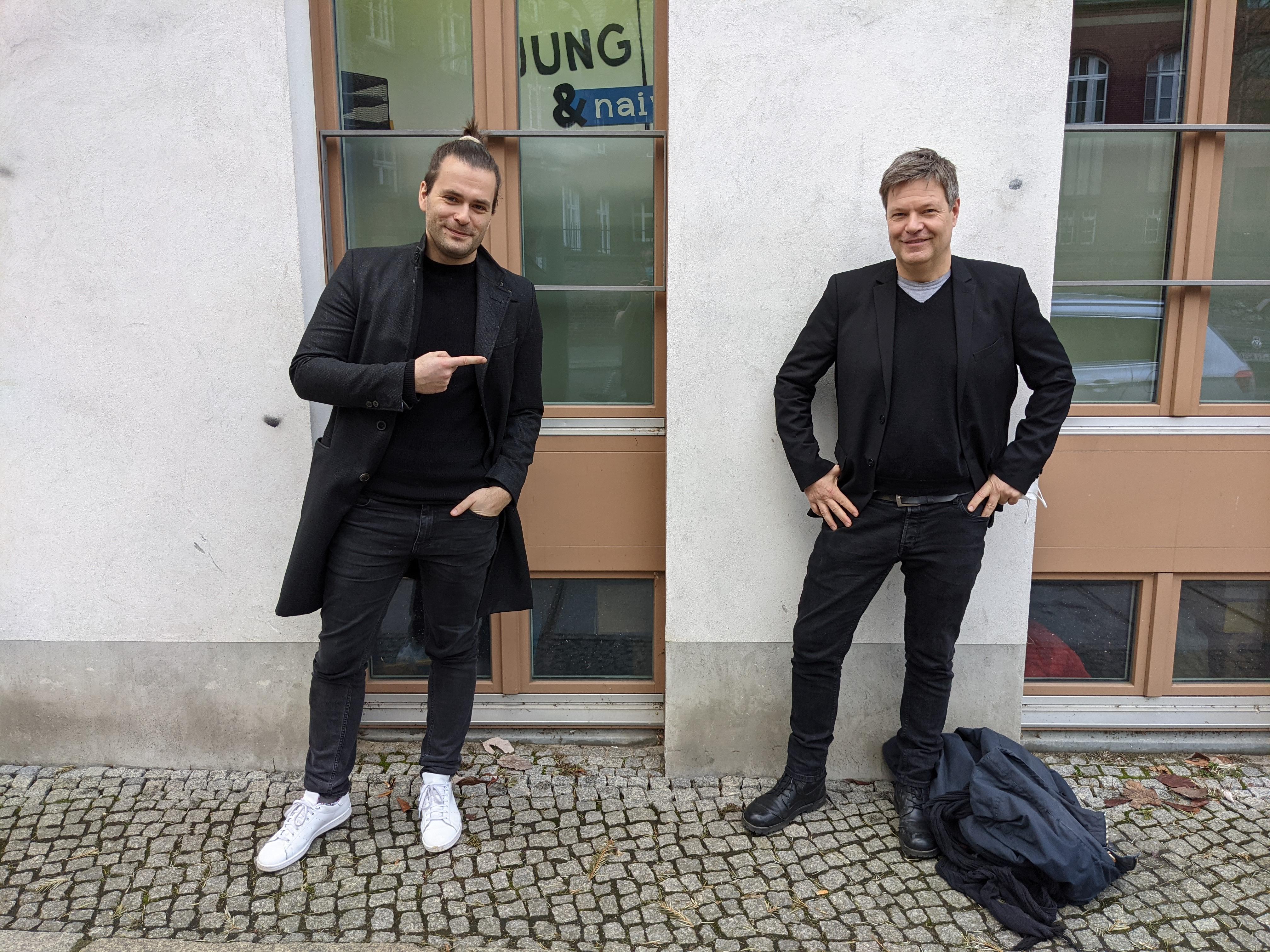 Tilo Jung und Robert Habek
