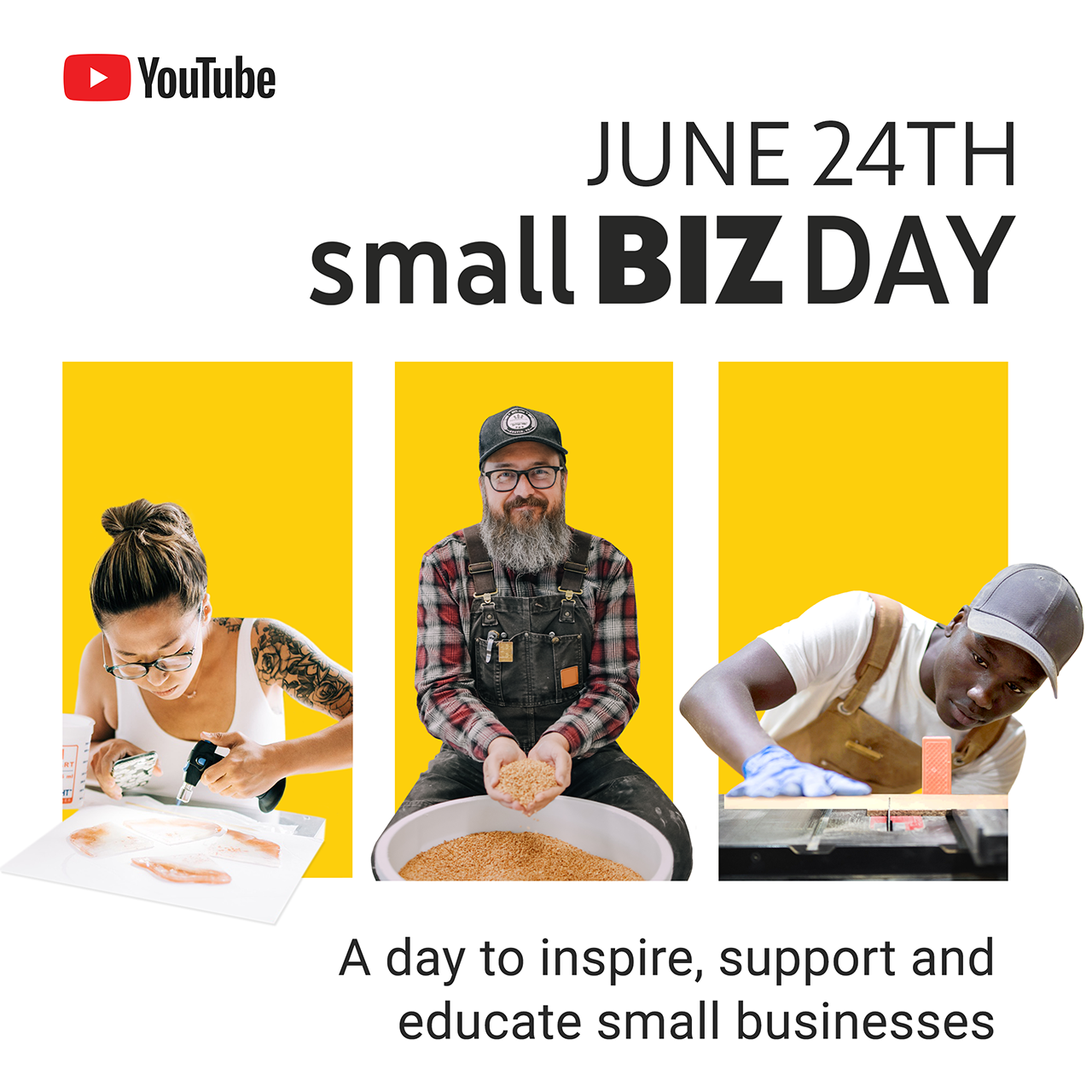 First-ever YouTube Small Biz Day on June 24