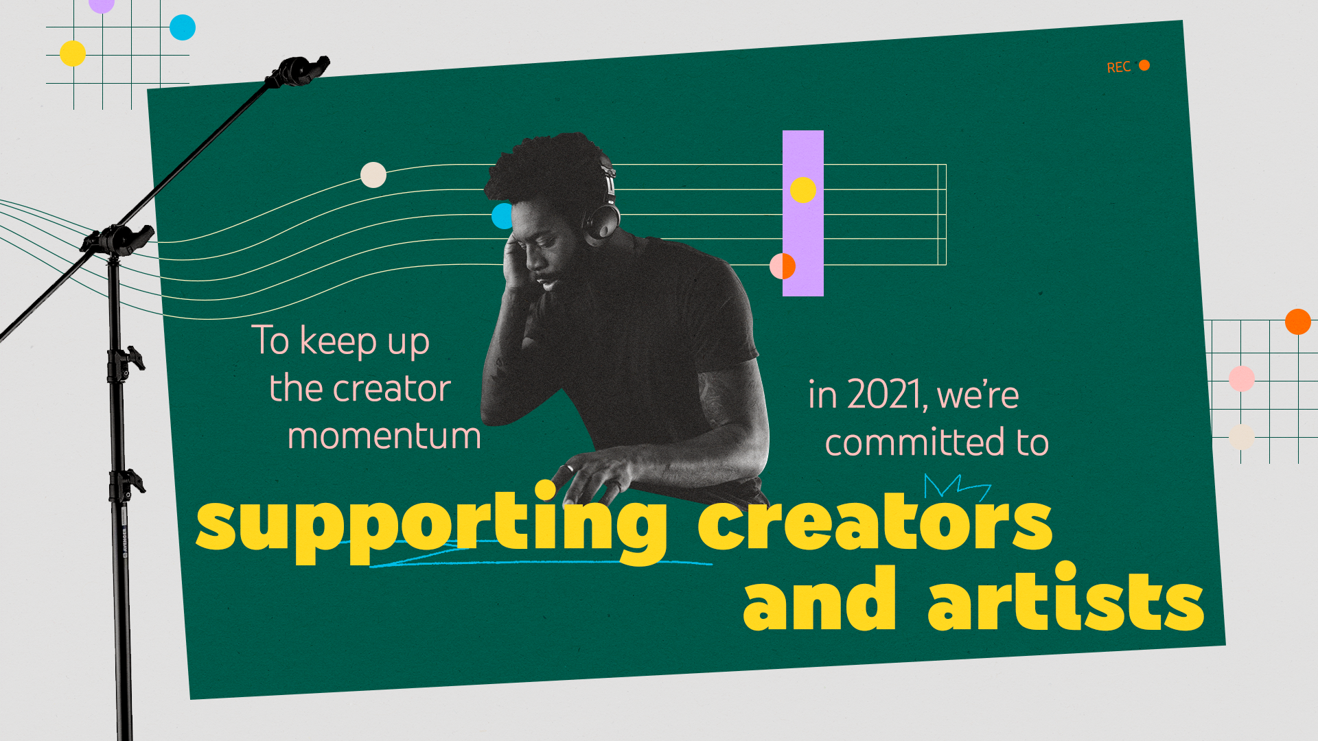 Supporting creators and artists