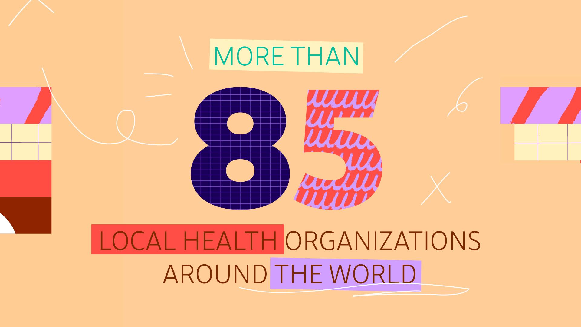 85 health orgs
