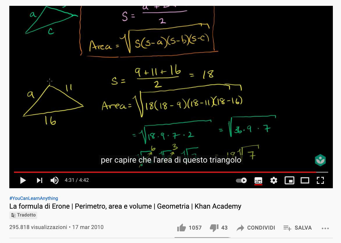 Screenshot of youtube video