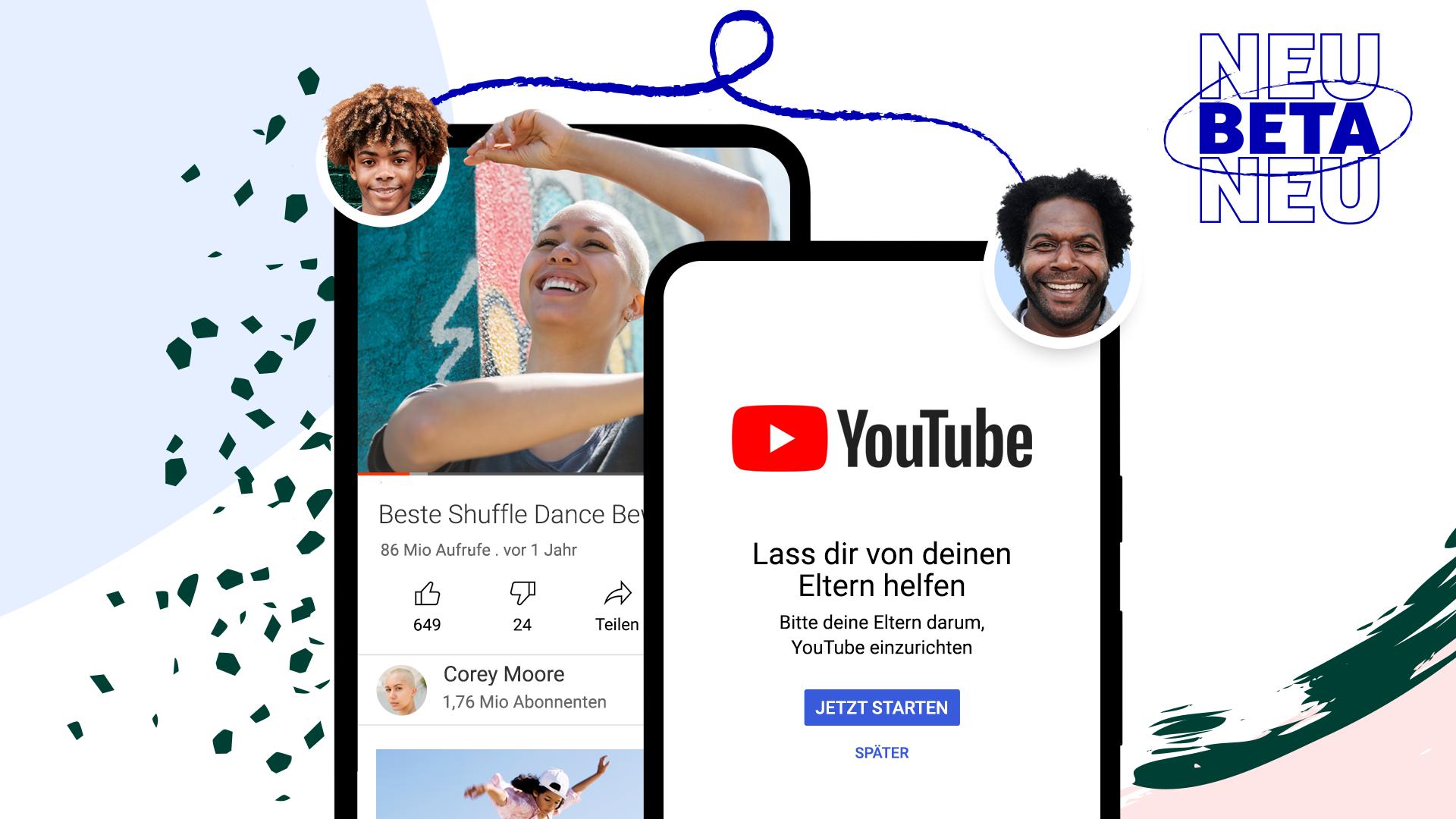 Neue Möglichkeiten für Eltern von älteren Kindern und Jugendlichen auf YouTube