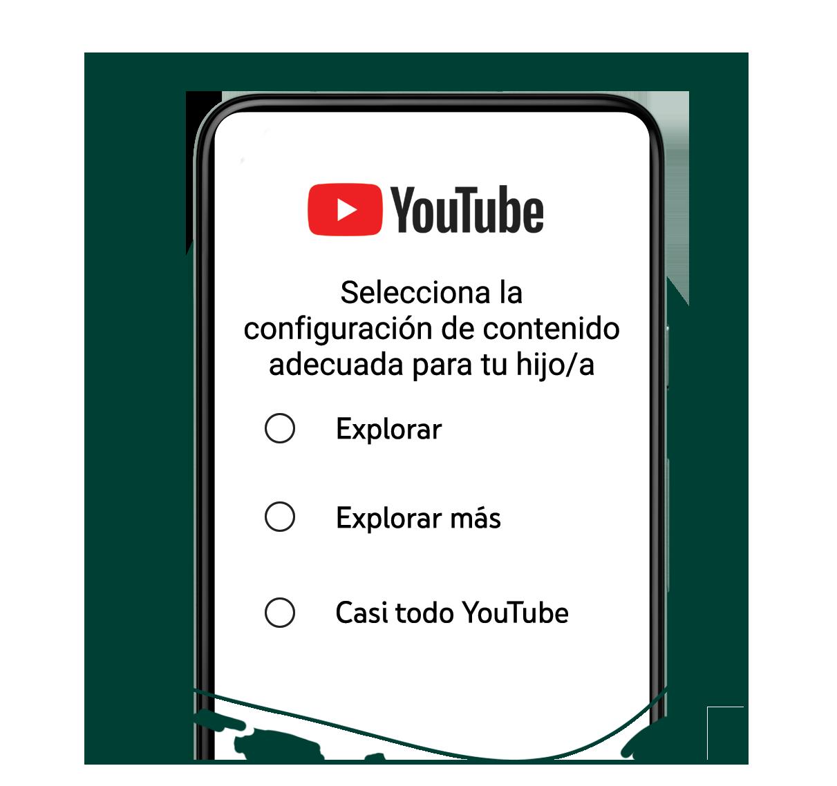 Opciones de contenido en YouTube para padres