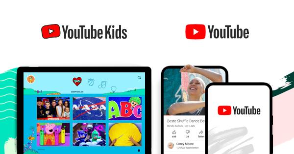 Die App YouTube Kids und die neue Funktion YouTube unter Elternaufsicht laufen parallel
