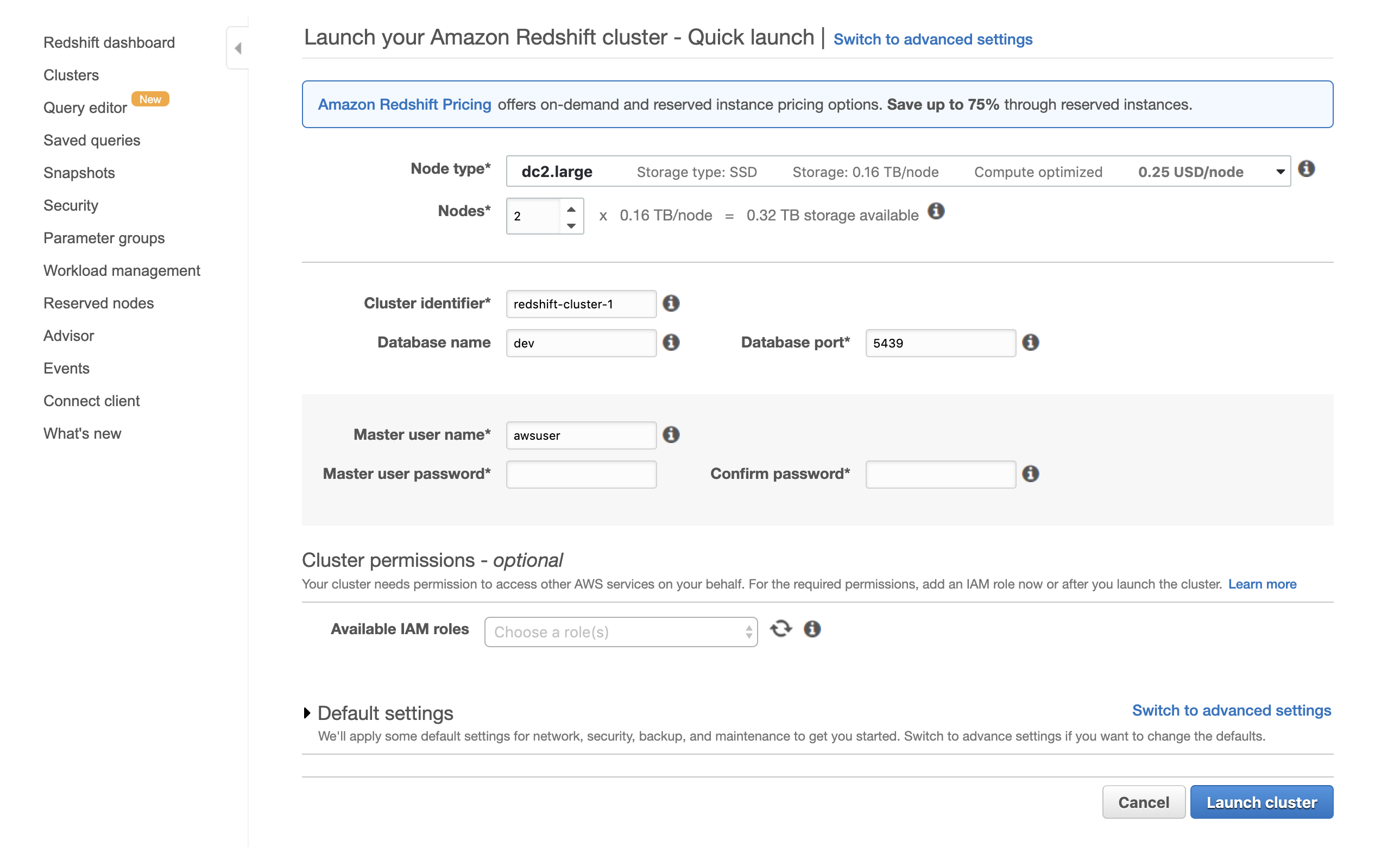 Using Amazon Redshift as your Data Warehouse | Data Science