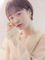 MINX 銀座五丁目店【ミンクス】  シースルーバングのナチュラルショートヘア