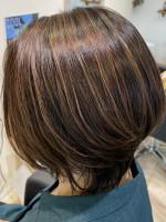 feAry hair design 【フィーリーヘアデザイン】太田市 明るい白髪染め×ハイライト【大人かわいい】