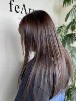feAry hair design 【フィーリーヘアデザイン】太田市 髪質改善ストレートメント×大人可愛いモカグレージュ