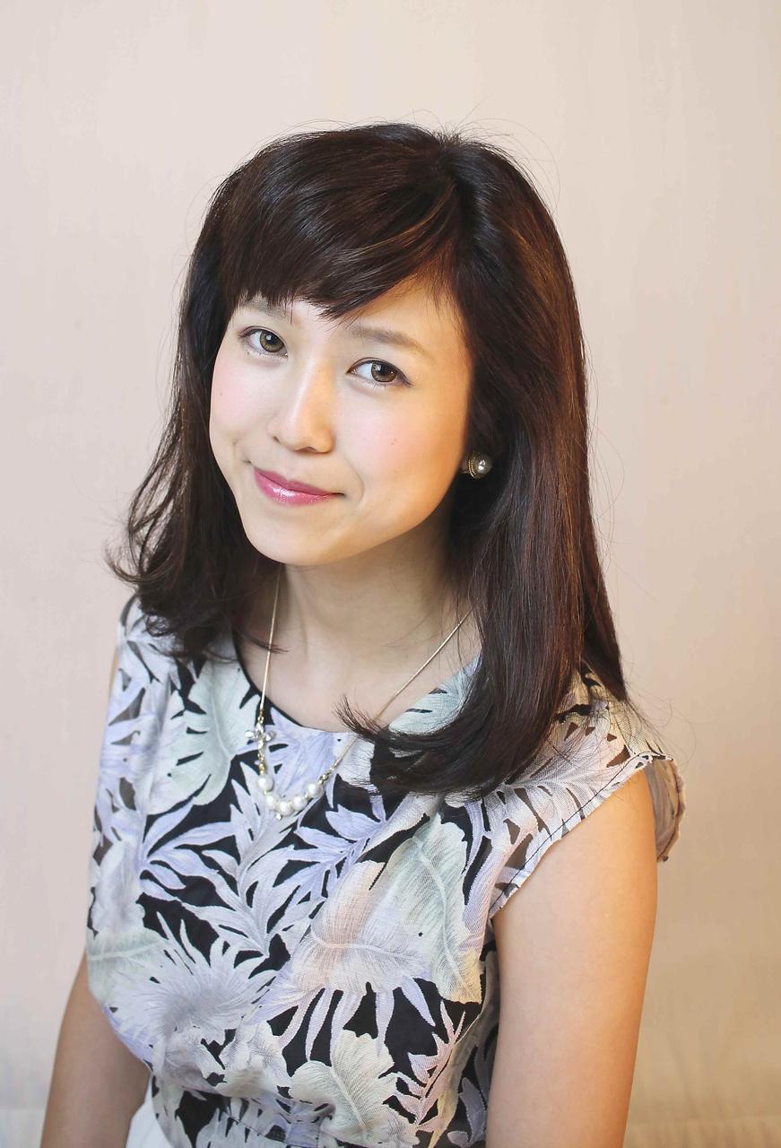 綾瀬はるかさん風~オトナ可愛い~ピュア!短め流し前髪 VOSGES