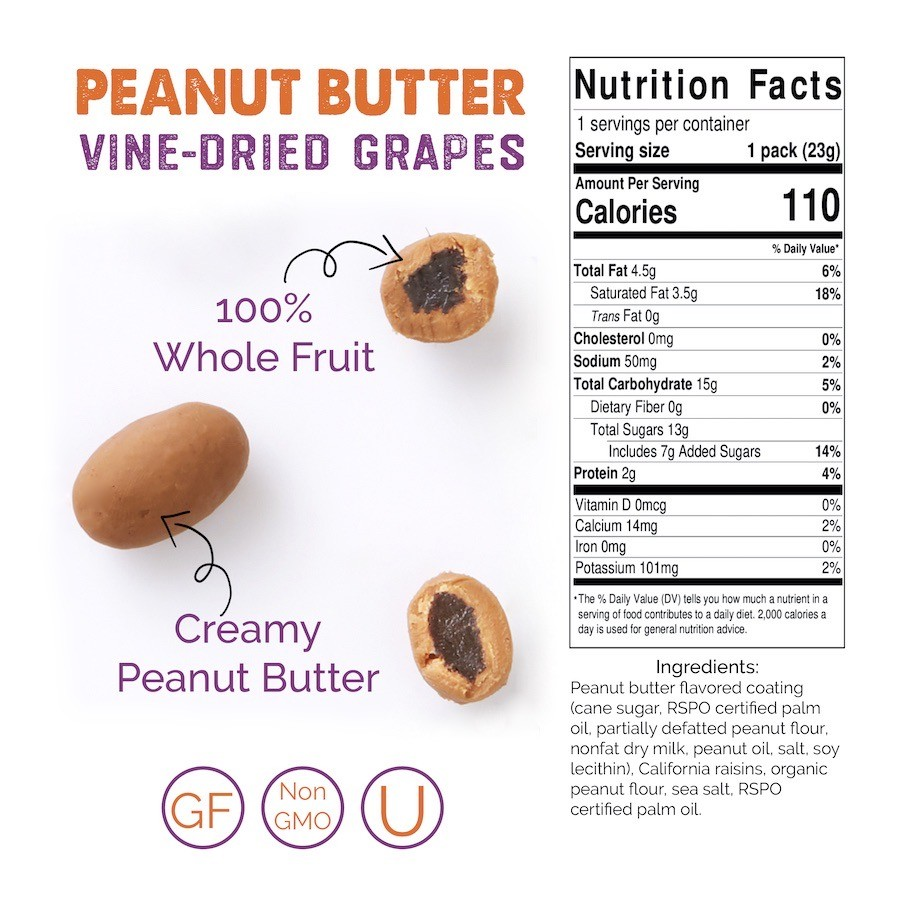 Peanut Butter Snack Box Case (2 Snack boxes/ 24 ct Snack Packs) 1