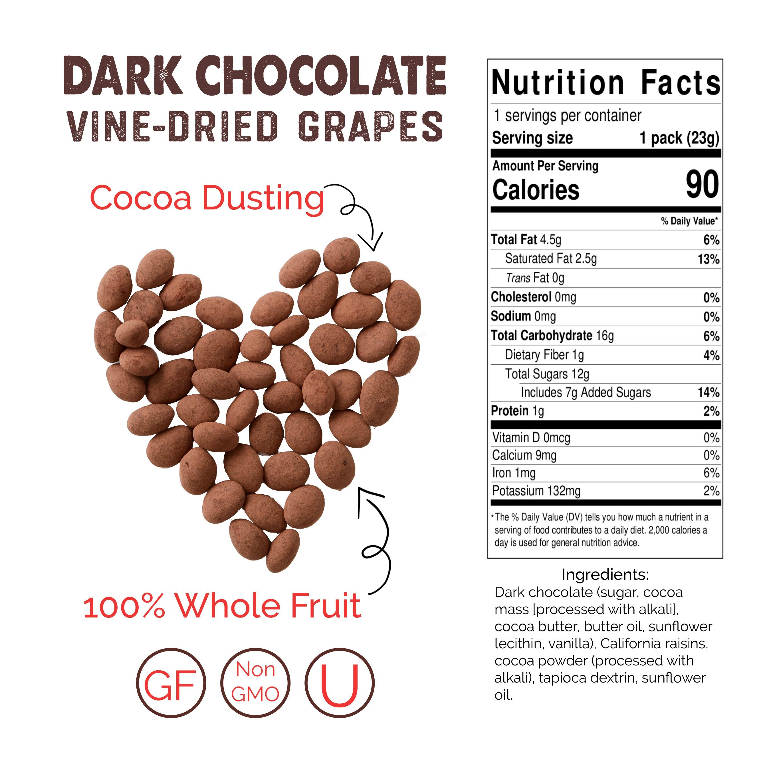 Dark Chocolate Snack Box Case (2 Snack boxes, 24ct Snack Packs) 1