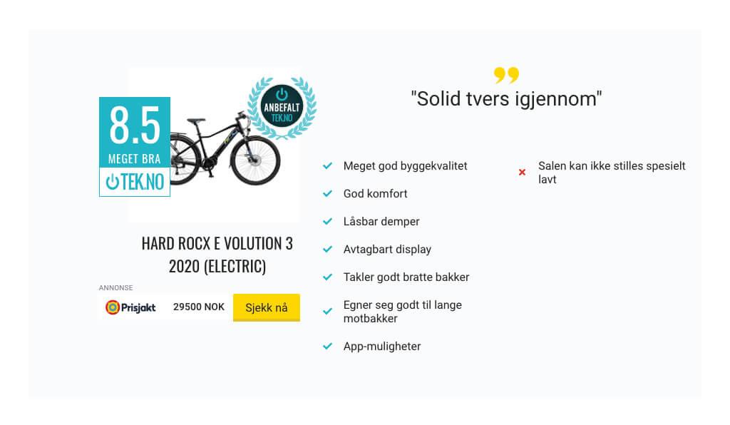 Best i test av norske elsykler og sterk anbefaling av TEK.NO