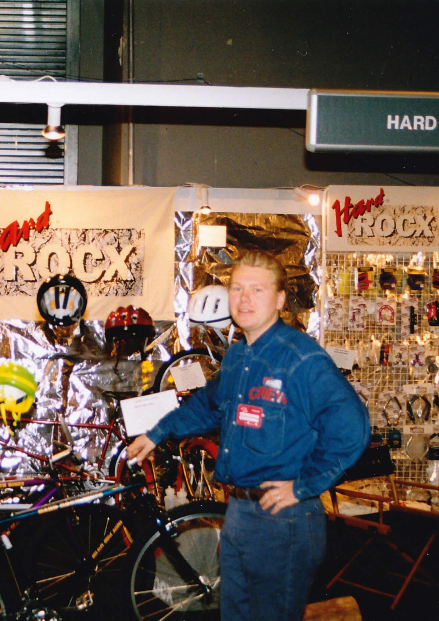 Steinar Karlsen Hard Rocx sykkelmesse 1993