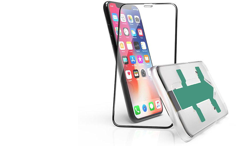 Premium 3D Glass<br /> mit Anbringhilfe