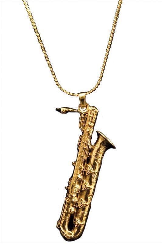 Gold Baritone Sax Necklace  68b7a24685bc