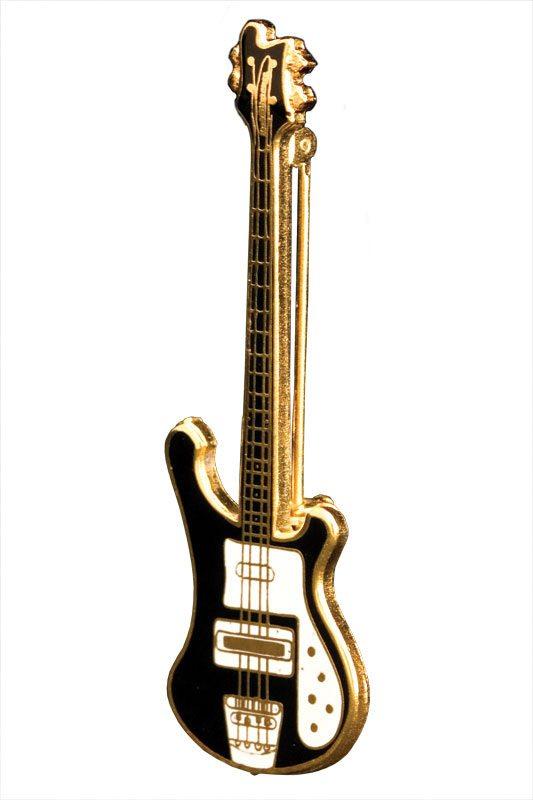 Black Rickenbacker Bass Pin