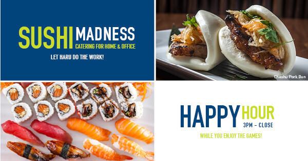 Haru Sushi Happy Hour: 3pm - Close